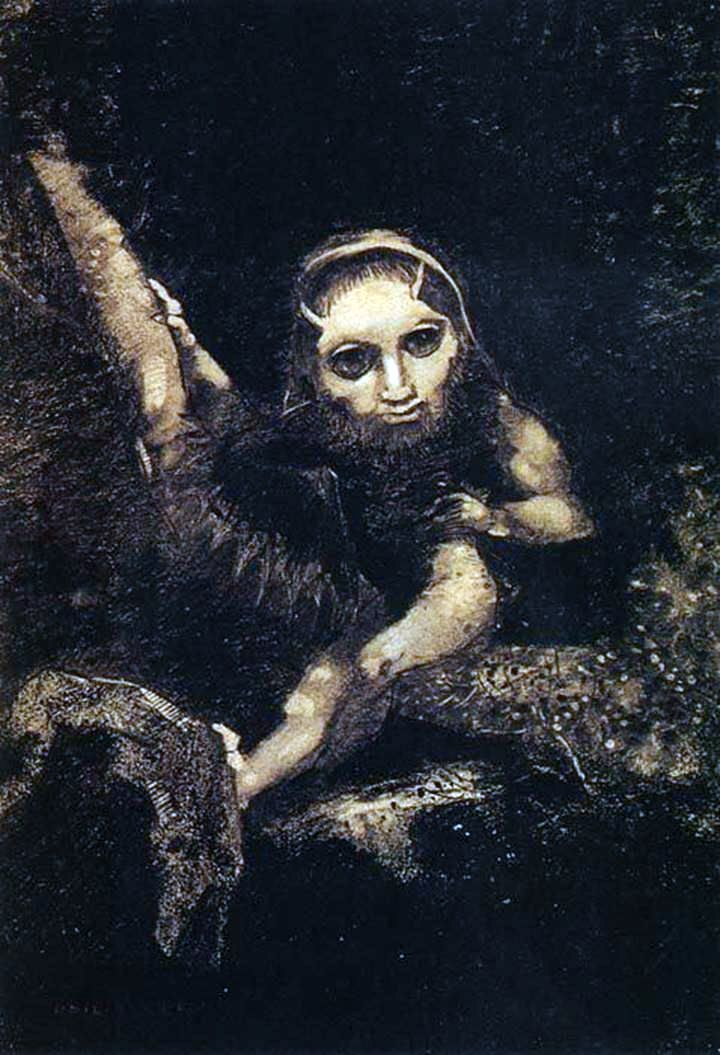 Elf Caliban   Odilon Redon